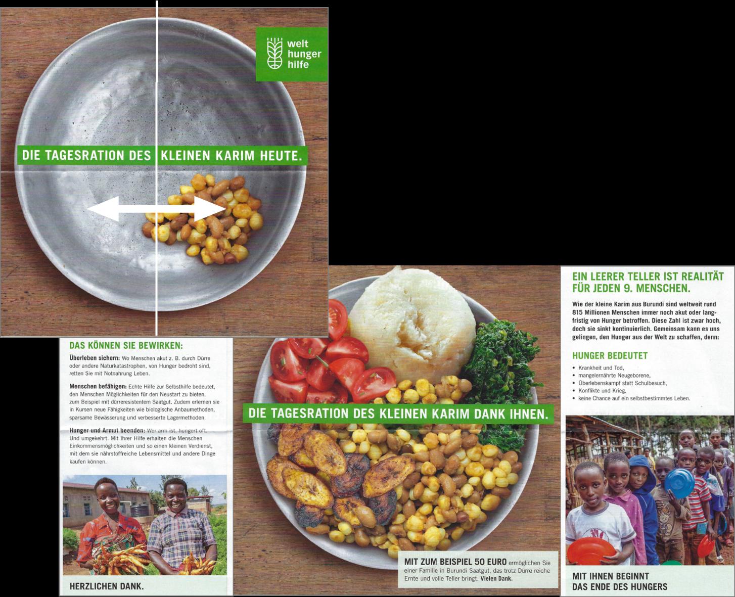 Mailing Welthungerhilfe e.V. Faltblatt