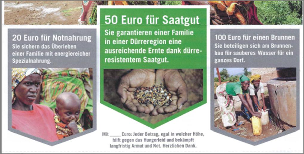 Mailing Welthungerhilfe e.V. Überweisungsträger